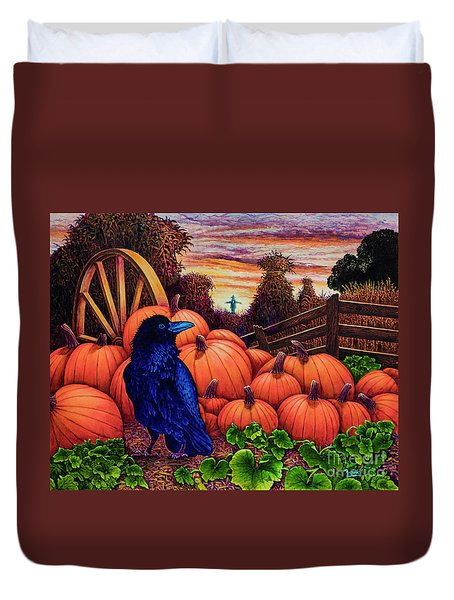 Scarecrow Duvet Cover by Michael Frank