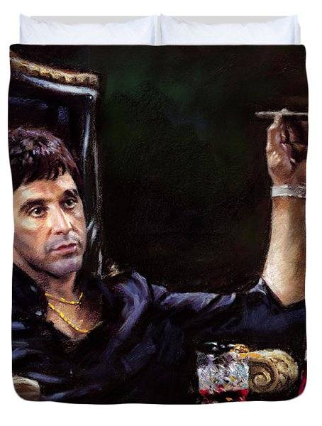 Scarface Duvet Cover by Ylli Haruni