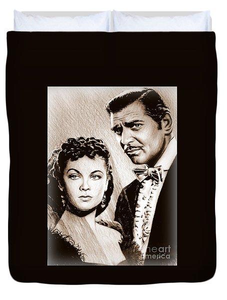 Scarlett O Hara And Rhett Butler Duvet Cover