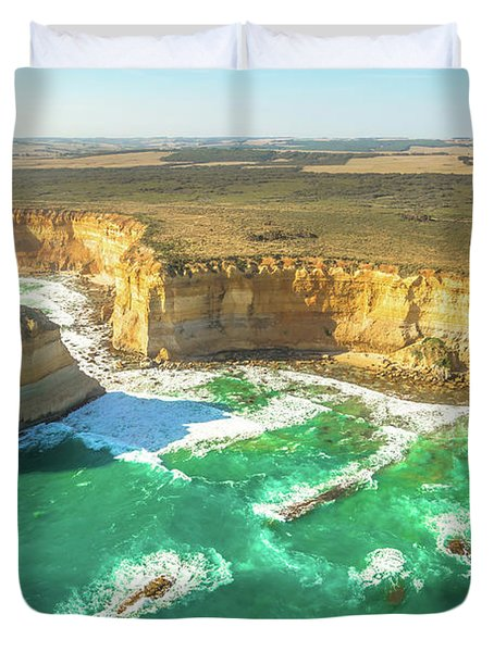Scenic Flight Twelve Apostles Duvet Cover