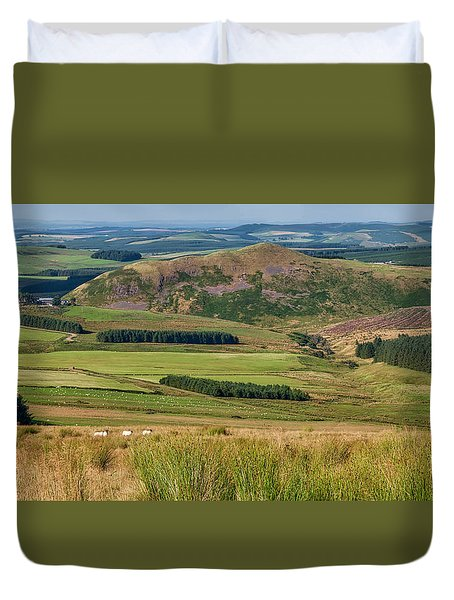 Scotland View From The English Borders Duvet Cover