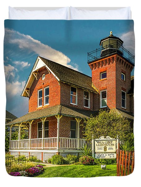 Sea Girt Lighthouse Duvet Cover