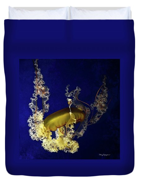 Sea Nettle Jellies Duvet Cover