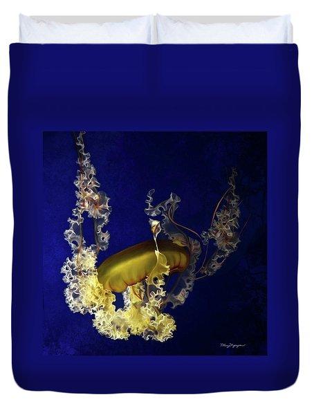 Sea Nettle Jellies Duvet Cover