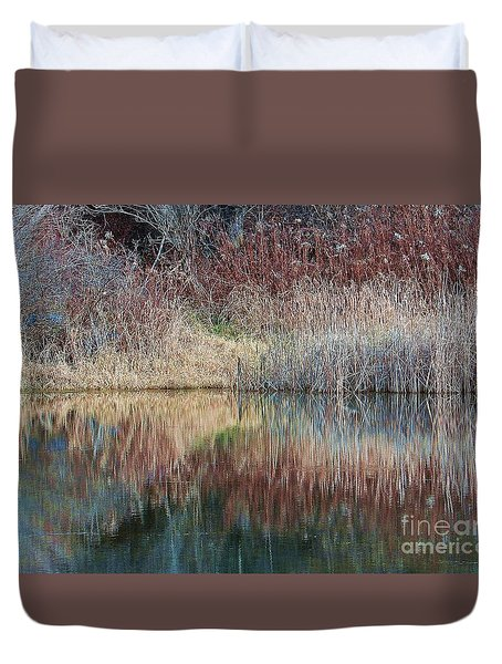 Duvet Cover featuring the photograph Seasons Edge by Christian Mattison