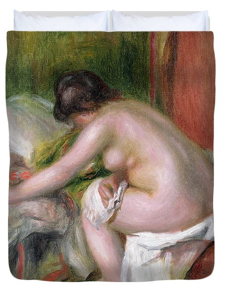 Seated Bather Duvet Cover by Pierre Auguste Renoir