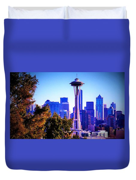 Seattle Afternoon Duvet Cover by Martin Cline