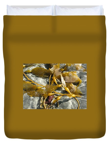Seaweed On Sand Duvet Cover