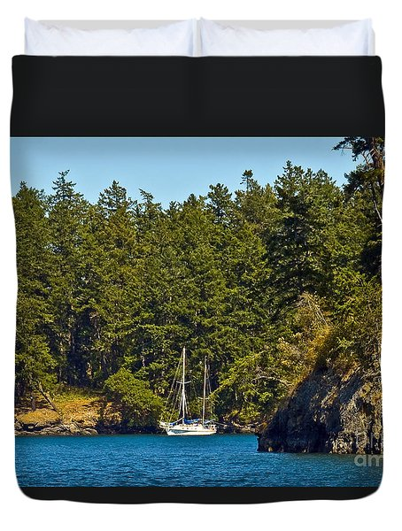 Secluded Anchorage Duvet Cover