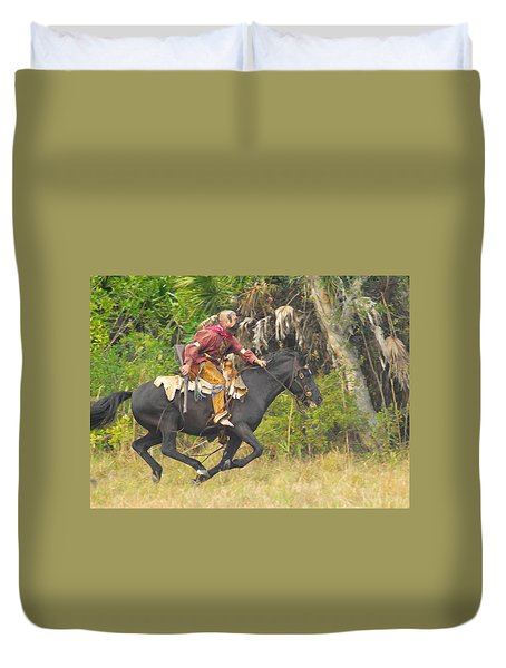 Seminole Indian Warrior Duvet Cover