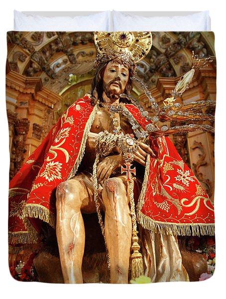 Senhor Bom Jesus Da Pedra Duvet Cover by Gaspar Avila