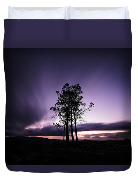 Duvet Cover featuring the photograph Sentinels by Antonio Jorge Nunes