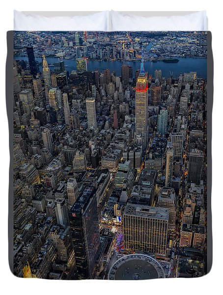 September 11 Nyc Tribute Duvet Cover