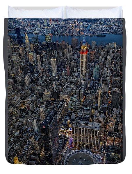 September 11 Nyc Tribute Duvet Cover