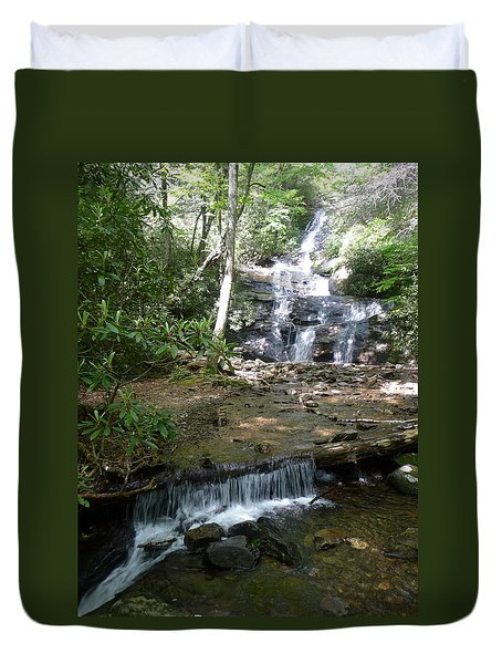 Set Rock Creek Falls Duvet Cover by Joel Deutsch