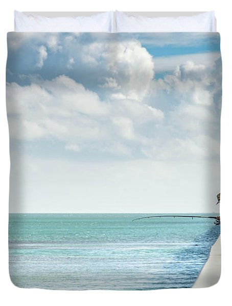 Seven Mile Fishing Duvet Cover