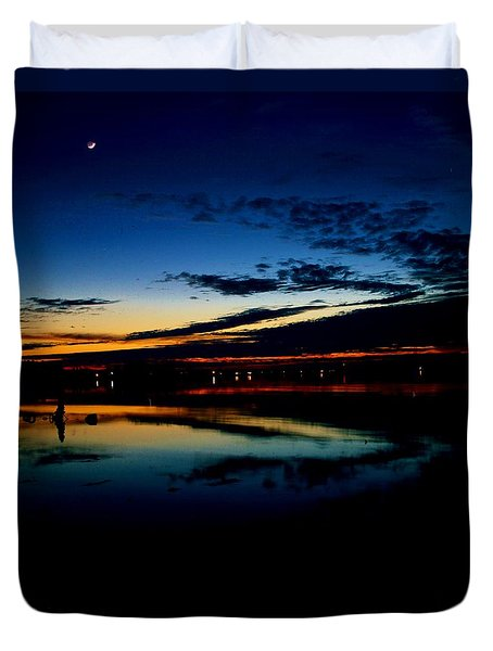Shades Of Calm Duvet Cover by William Bartholomew