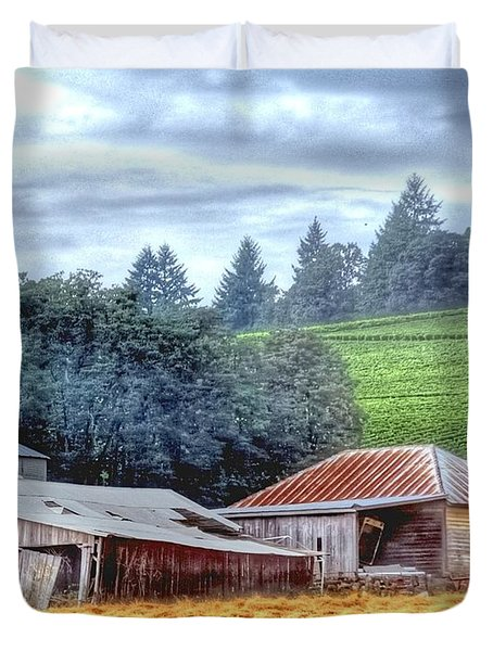 Shed And Grain Bins 17238 Duvet Cover