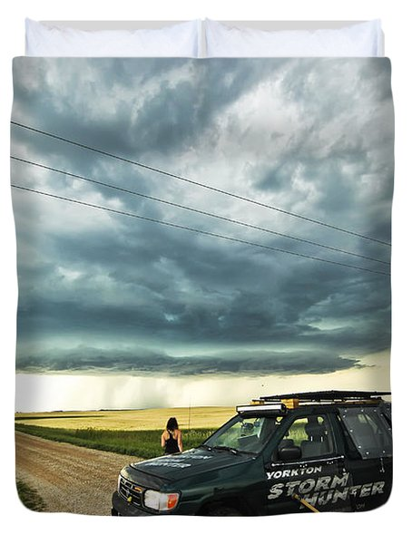 Shelf Cloud Near Vibank Sk. Duvet Cover