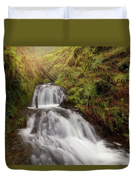 Shepperd's Dell Falls Duvet Cover by David Gn