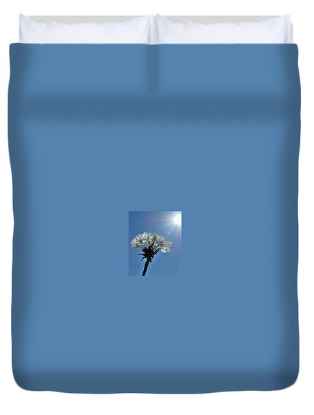 Duvet Cover featuring the photograph Shining by Marija Djedovic