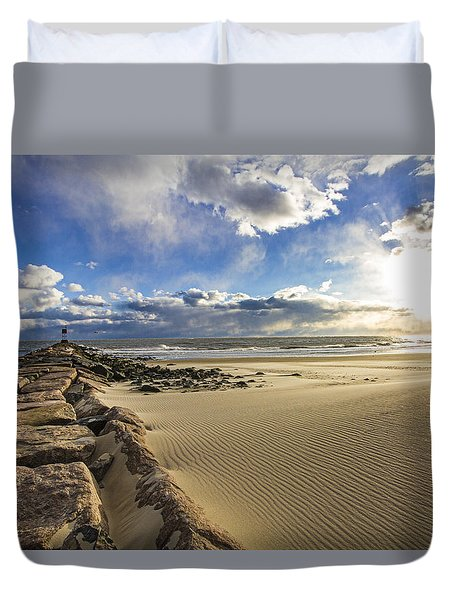 Shinnecock Sand Drift Duvet Cover