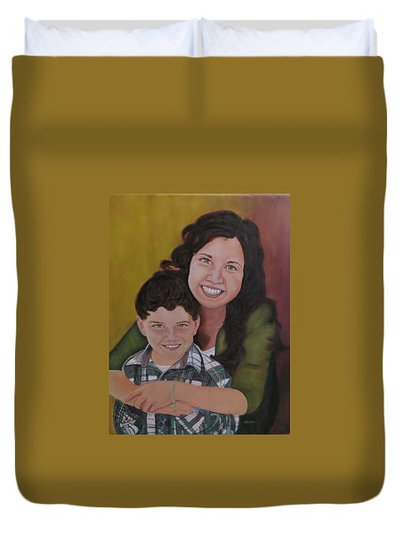 Siblings Duvet Cover