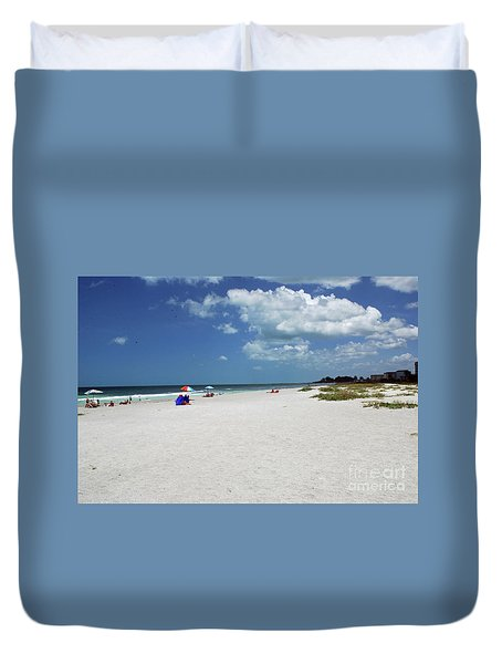 Duvet Cover featuring the photograph Siesta Key Beach by Gary Wonning