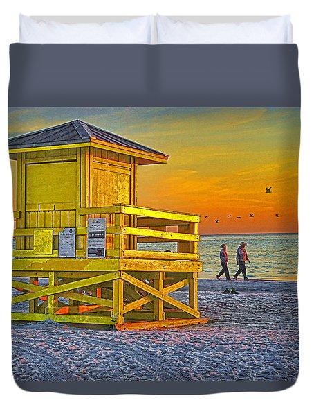Siesta Key Sunset Duvet Cover by Dennis Cox WorldViews