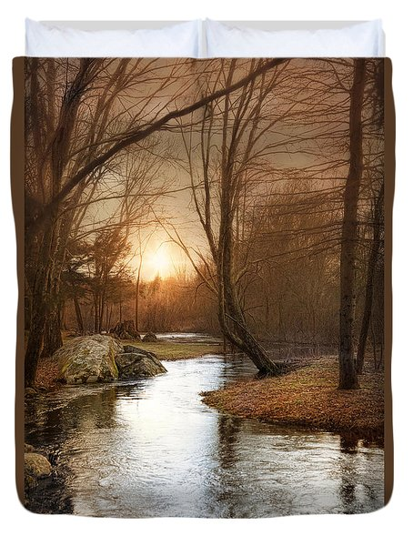 Duvet Cover featuring the photograph Silence Is Golden by Robin-Lee Vieira