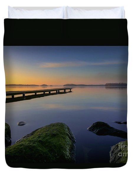 Silence Lake Duvet Cover