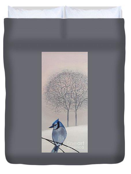 Silent Snow Duvet Cover