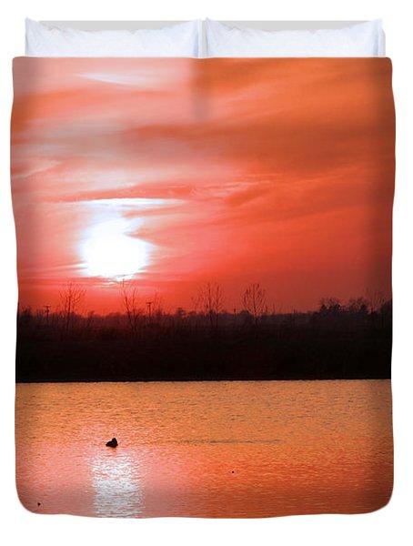 Silky Sunset Duvet Cover