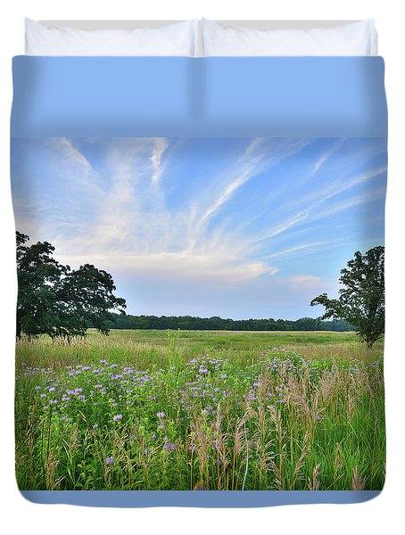 Silver Creek Conservation Area Sunset Duvet Cover