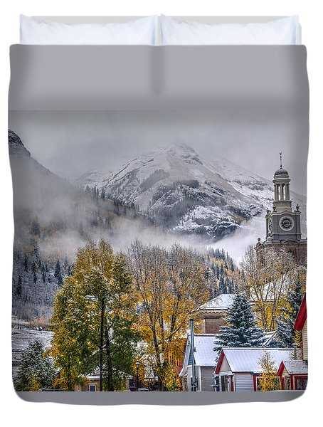 Silverton Colorado Duvet Cover