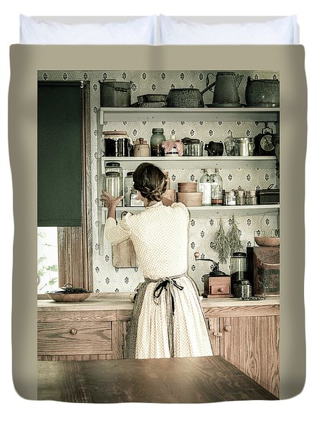 Duvet Cover featuring the photograph Simple Life 9 by Julie Palencia