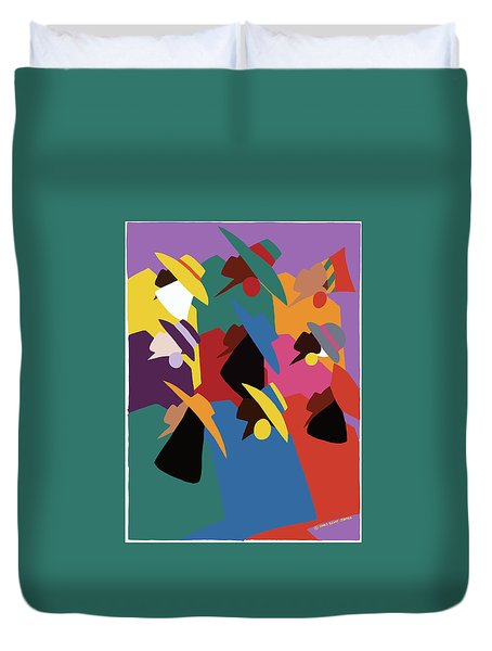 Sisters Of Courage Duvet Cover