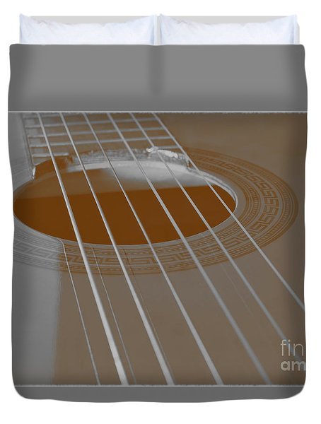 Six Guitar Strings Duvet Cover
