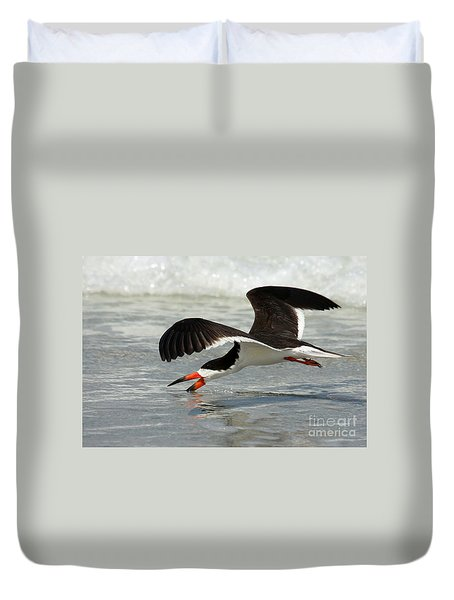Skimming Duvet Cover by Myrna Bradshaw