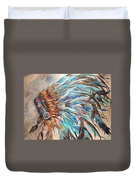 Sky Feather Duvet Cover