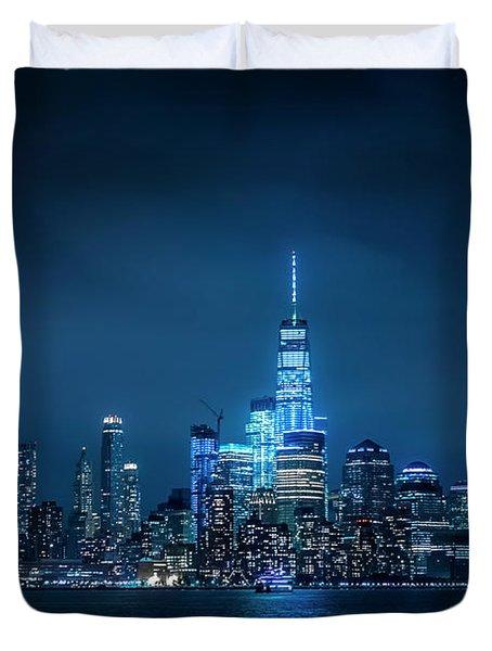 Skyline At Night Duvet Cover
