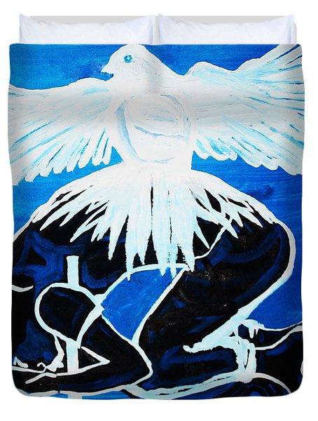 Slain In The Holy Spirit Duvet Cover