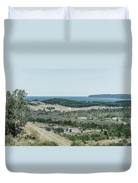 Duvet Cover featuring the photograph Sleeping Bear Dunes National Lakeshore by Alexey Stiop