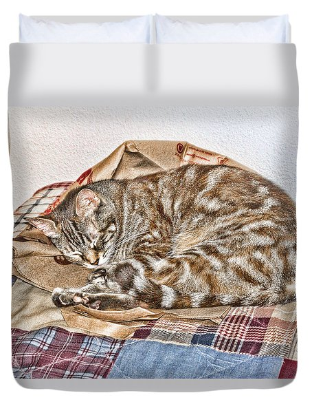 Duvet Cover featuring the digital art Sleeping by Photographic Art by Russel Ray Photos