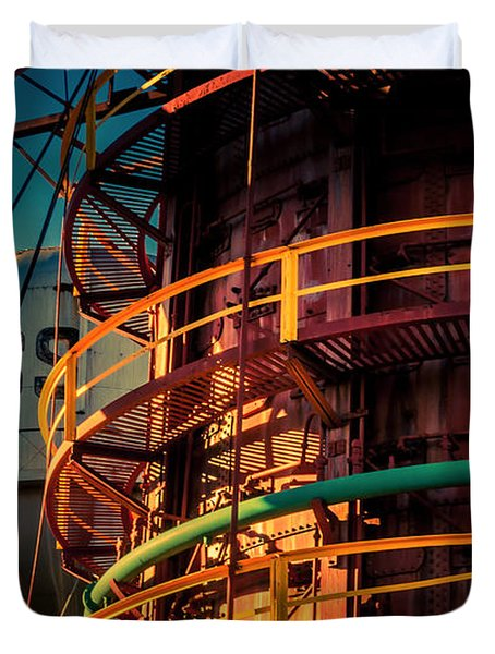 Sloss Furnaces Duvet Cover by Phillip Burrow
