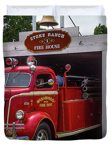 Small Fire House 1 Duvet Cover