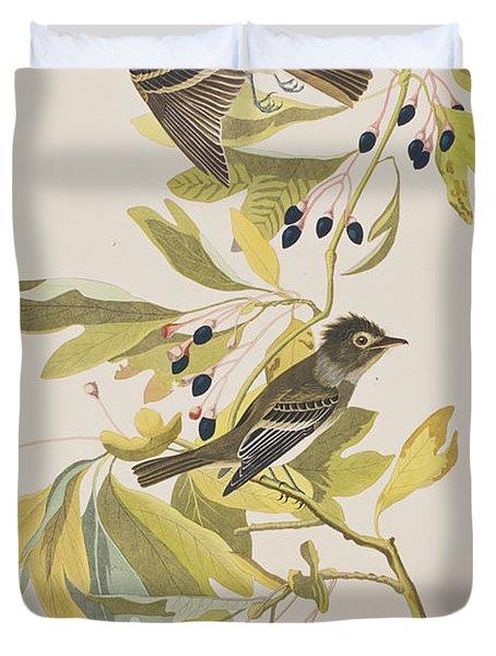 Small Green Crested Flycatcher Duvet Cover by John James Audubon