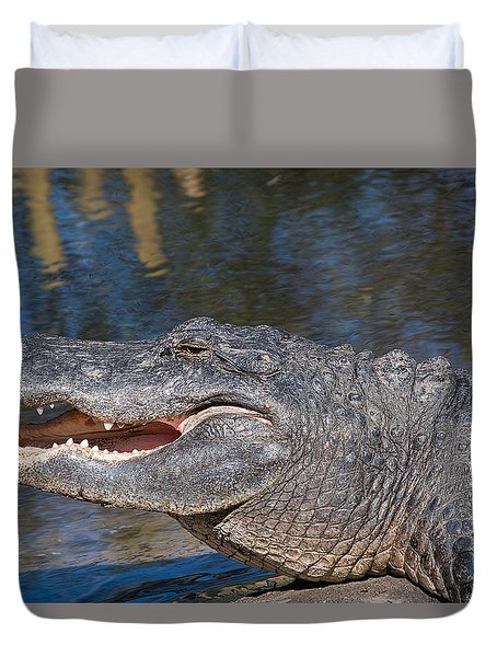Smiling Jack Duvet Cover by Kenneth Albin