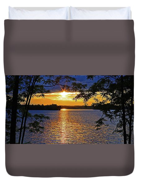 Smith Mountain Lake Summer Sunet Duvet Cover