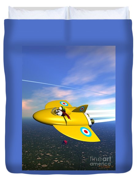 Snoopy The Flying Ace 3 Duvet Cover